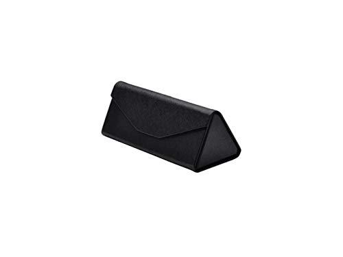 FOOBRTOPOO Faltbare Dreieck Brillenetui Hard Sonnenbrille Box Gläser Tasche (braun)