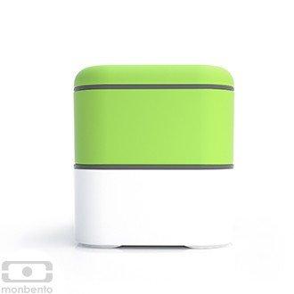 Monbento Original grün / weiß - Die Bento-Box + Edelstahlstyling Universalmesser GRATIS -