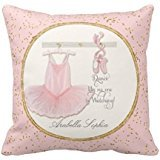 Ballet skirt ni215 Personalized Cushion Cover NEW Home Office Decorative 18 X 18 Inches OPAndrew