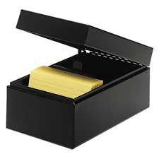 mmf-industries-products-card-file-hinged-lids-3quotx5quot-black-sold-as-1-ea-black-all-steel-box-fea