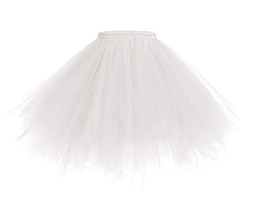 8f44424ed8cfd2 HomRain 1950 Petticoat Tutu Unterrock Underskirt für Rockabilly Kleid White  XL