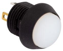 EOZ PB Switch, SPST-NO, IP67, QC, White FL12LW5 -