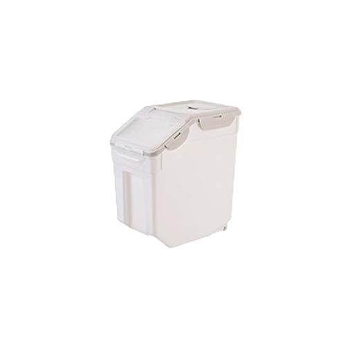 SNOLEK Küche Haushalt transparent Zweischalenreis Eimer Magic grau Small 10kg