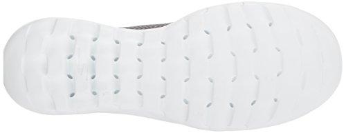 Skechers Damen Go Walk Lite-Smitten Slip On Sneaker Grau (Charcoal)