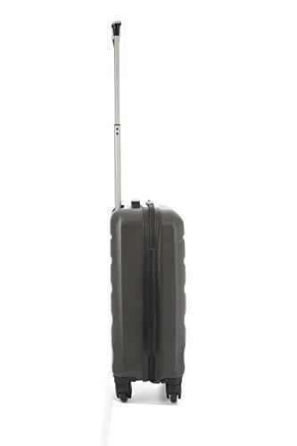 Aerolite ABS Maleta Equipaje de mano cabina rígida ligera con 4 ruedas, 55cm, 2 x Gris Oscuro