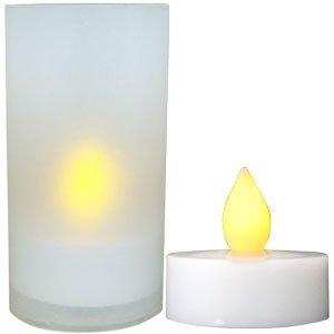 Daffodil LEC008 - Velas LED - Pack de 6 Velitas Eléctricas con sus respectivos soportes - Velas sin ceras - Pilas incluidas