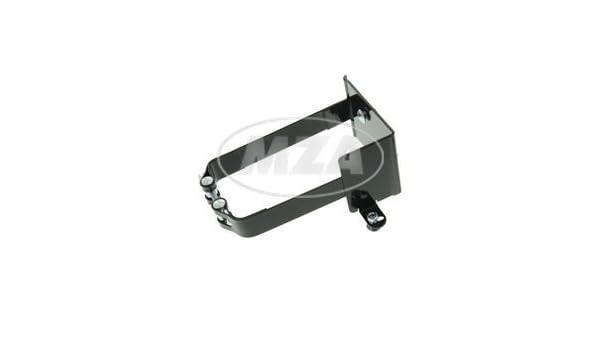 pass inkl schwarz pulverbeschichtet 3 Schlo/Ã/Ÿschrauben mit Muttern SET Batteriehalter komplett f/Ã/¼r AWO 425T