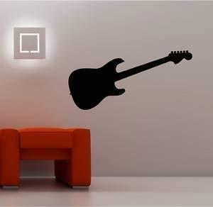 Online Design Guitarra Eléctrica de Pared Pegatina Vinilo Infantil Música - Azul