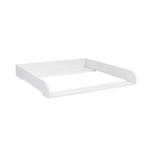 """Puckdaddy Wickelaufsatz\""""Rund\"""" in weiß für IKEA Malm Kommode"""