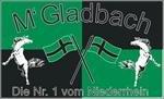 Gladbach Nr.1 vom Niederrhein Fussball Fahne Flagge Grösse 1,50x0,90m - FRIP -Versand®