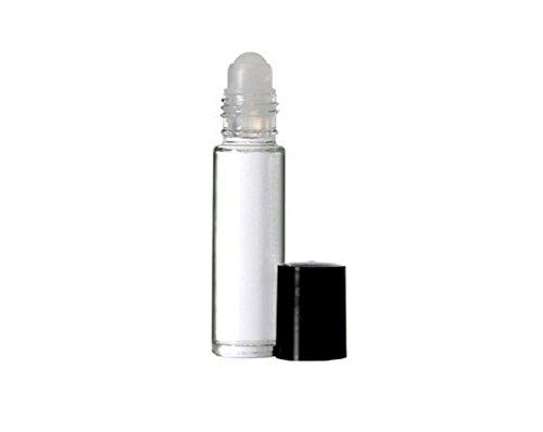 3PCS 10ml 0.34oz Leere nachfüllbare Transparente Glasrolle auf Rollenflasche Phiole Containerhalter Topfglas mit Kunststoff Roller Ball für ätherisches Öl Parfums Lip Gloss Balsame (Black Lid) - Lip-roller