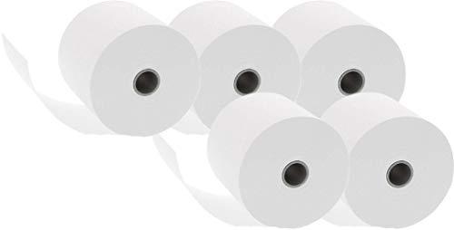 Additionsrollen (Ersatz-Papierrollen, geeignet für Kassen und druckende Tischrechner, 40 lfm, 100{f8a84c1a3b94ccaa07bc21f8d59ba59d51aaced17729db08472ce3978dfe6bbe} Holzfrei, 57 x 12 mm) 10er Pack weiß