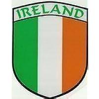 Irlanda Irlandese Tri Colori Bandiera Forma Di Scudo Interno Auto Finestrino Adesivo Calcomania - Colori Bandiera Irlandese