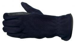 Kerbl Fleece-Reithandschuhe blau, Gr. S