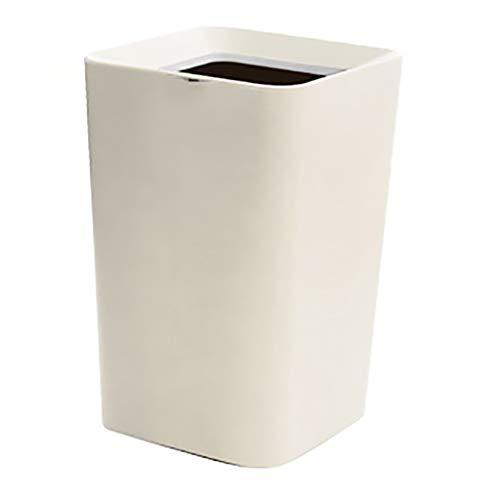 Mülleimer Bins Kleines Zuhause Wohnzimmer Schlafzimmer Badezimmer Doppeldecker Papierkorb Nordic 6.6l Runde/Quadrat