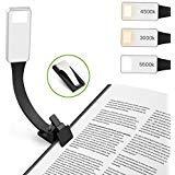 Hianjoo Luz de Lectura LED, 3 configuraciones de Brillo Ajustable Luz de Lectura Lámpara de Lectura Recargable USB Flexible para Kindle/eBook Reader/Books/iPad [Super-Light] [portátil], Negro