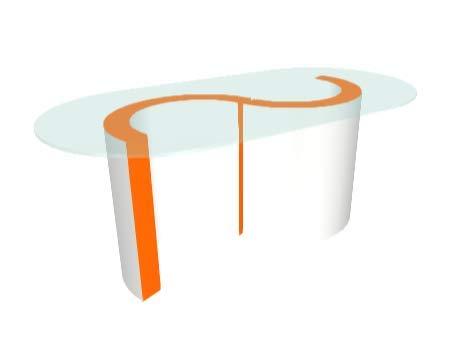 Zespoke Blanc Extérieur Monaco Table Basse en Verre