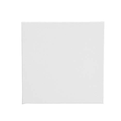 Yardwe 10 STÜCKE Blank Canvas Panel Boards Holz Canvas Panel Boards für ölgemälde (Weiß)