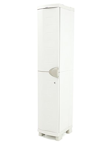 Plastiken Garderobenschrank Space Saver Breite 35cm Farbe beige (35cm x 45cm tief x 184cm...