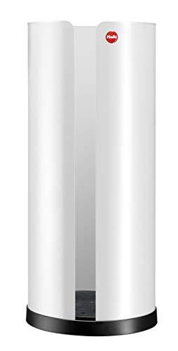 Hailo 0833-830 Bath Line Porte Rouleau WC Acier Inoxydable/Plastique Blanc 14 x 14 x 32,5 cm