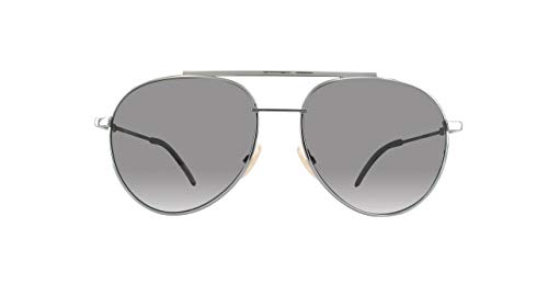 Fendi Herren FF 0222/S M9 KJ1 56 Sonnenbrille, Grau (Dark Ruthenium Grey)