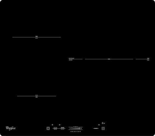 Whirlpool ACM 630/NE Noir Intégré Plaque avec zone à induction - Plaques (Noir, Intégré, Plaque avec zone à induction, Verre, Tactil, En haut devant)