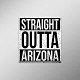 Straight Outta Arizona Vinyl Decal Sticker   Cars Trucks Vans SUVs Laptops Walls Windows Cups   Full Color   4.5 X 5 Inches   KCD2076