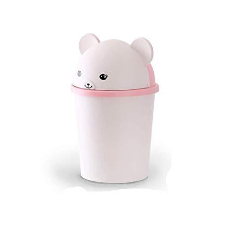 LELME Papierkorb Cartoon Nettes Schlafzimmer Haus Mit Abdeckung Mülleimer Kinderzimmer Kreative Kleine Mülleimer -