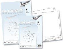 Folia 8204/10 Zeichenpapiere Gekörnt - Kleinformat A4 120 g 10 Blatt