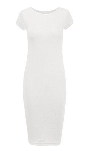 New à manches longues pour femme Robe Midi à Spaghetti Tailles :  8–26 Blanc - Blanc