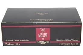 Dammann Frères - Thé 4 FRUITS ROUGES - 24 sachets individuels