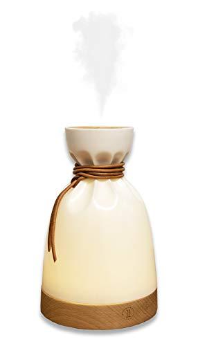 Elektrischer Duftspender für ätherische Öle & LED-Nachtlicht - Luftbefeuchter Aroma Air - Ultraschall - Design Buche - Duft -