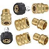 Mingle Ultimate Hochdruckreiniger-Adapter-Set, Schnelltrenn-Set, M22 schwenkbar auf 3/8 Zoll Schnellanschluss, 1,9 cm auf Schnellspanner, 8er-Pack