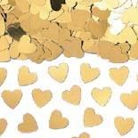 Preisvergleich Produktbild Amscan Schillernde Herzen Metallic Confetti, Gold
