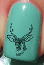 DOH une tête de cerf - Stickers pour ongles YRNAILS