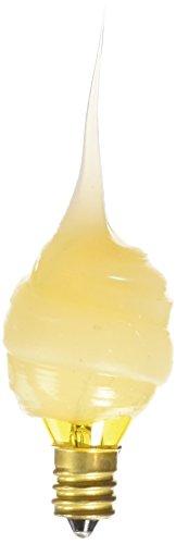 Darice–Plantilla para grabar 2unidades bombillas de vela–de remolino de silicona color amarillo