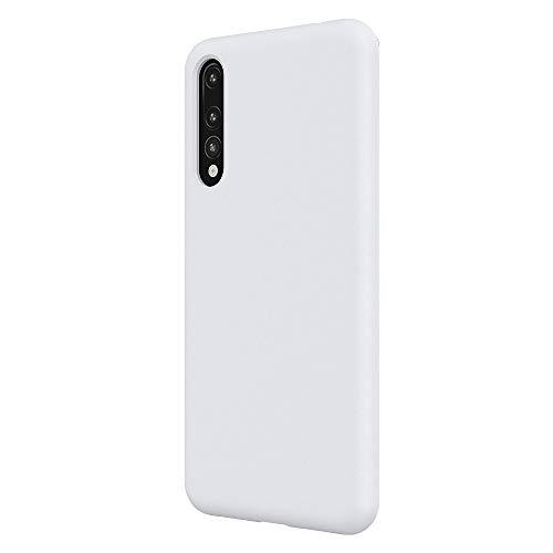 Custodia Huawei P20 PRO Cover Silicone Gel Gomma Ultra Morbido Sottile Morbido Custodie Protettivo Gomma Cover per Huawei P20 PRO (Huawei P20 PRO, Bianco)