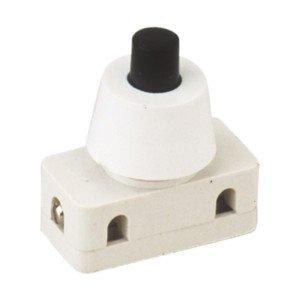 Interruttore unipolare a pulsante 2A 250V Collegamento Cavo a vite ON-OFF ElectroDH 11.172.i