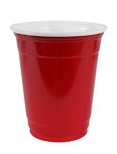 50 gobelets rouges américains 40 cl, 12-14oz plastique jetables