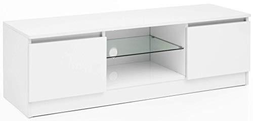 Wohnling WL5.717 Lowboard, Holz, Weiß, 120x39x40 cm