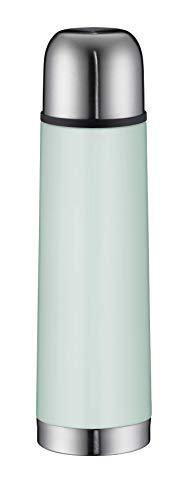 alfi 5457.292.050 Isolierflasche isoTherm Eco, Edelstahl Mint Green 0,5 l, Drehverschluss, 12 Stunden heiß, 24 Stunden kalt, BPA-Free