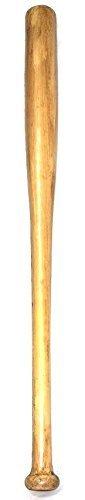 The Rubber Plantation TM 619219296366 - Bate de béisbol para Halloween, diseño de arma, decoración de horror (efecto madera de pino), unisex adulto, talla única