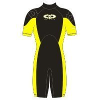 Childs 3mm TIC Shortie Wetsuit Yellow Size K07 Age 6-7