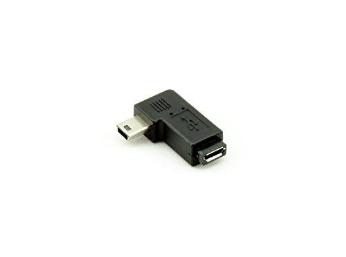 Akord, adattatore ad angolo retto da mini usb maschio a micro usb femmina, colore:nero