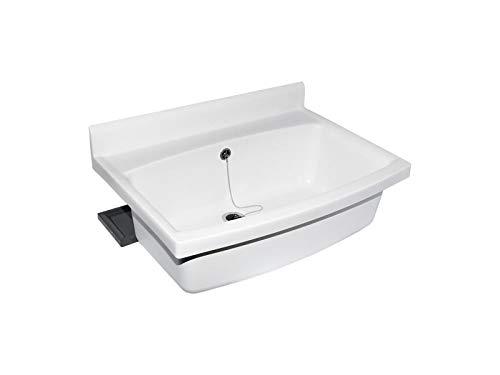 Sanit 60.007.01.0099 maxi Becken mit Überlauf weiß, weißanthrazit