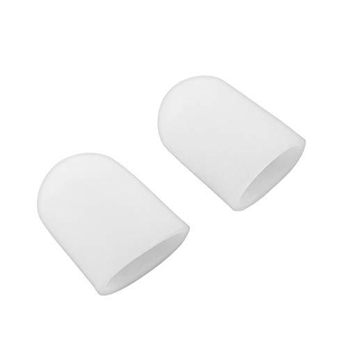 Pudincoco 2pcs tube en gel de silicone tube d'orteil bouchons d'orteil coussins de pied pied Coins Remover doigt protéger le corps Massager Semelles Soins de santé (blanc)