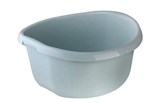 KADAX Runde Kunststoffschüssel. Becken tief und robust. Schüssel, Waschschüssel, Spülwanne Groß Eignet Sich hervorragend für das Badezimmer, den Waschraum, die Küche und das Haus (Grün, 15L)