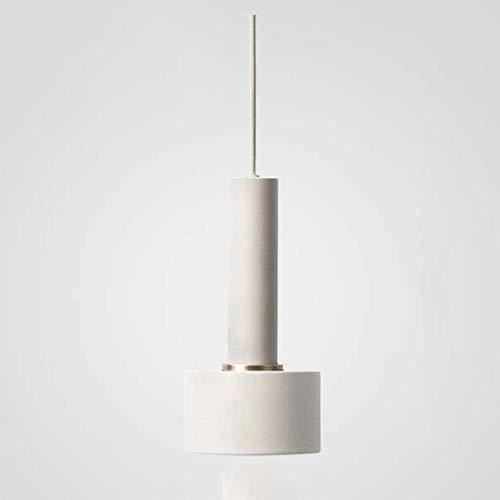 BDHBB Moderner Leuchter, einfache hängende Deckenleuchte-Industriegrad-Licht-Schatten-hängende Leuchte, für Wohnzimmer/Bett-Raum/Fenster/Café,White - Chrome Zeitgenössische-bett
