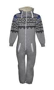 Kostüm Kinder Aztekische - Oska Onesie Jungen Schlafanzug, Aztekisch Schwarz Grau
