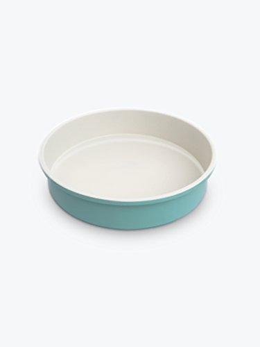 GreenLife Ceramic Non-Stick Round Cake Pan, Turquoise